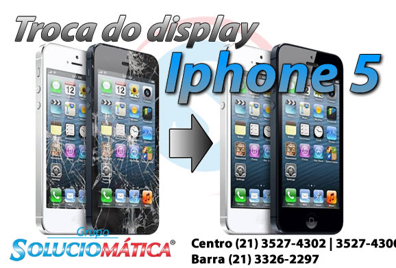 Troca de touch e display iPhone 5