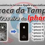 troca da tampa traseira do iphone