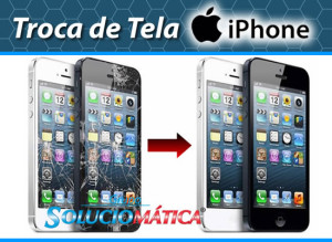 Troca de tela iPhone rj