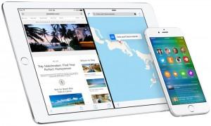 Próxima grande atualização iOS 9 da Apple, agora disponível para download.
