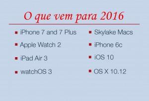 O que a Apple está trazendo em 2016: Apple Watch 2, iPhone 6c, iPhone 7, Skylake MacBooks, e Muito Mais