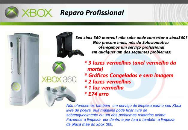 reparo de xbox 360