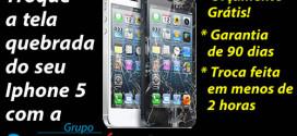 trocar tela quebrada iphone 5