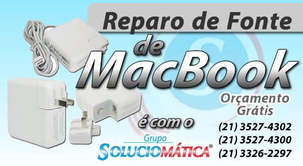 reparo de fonte de macbook