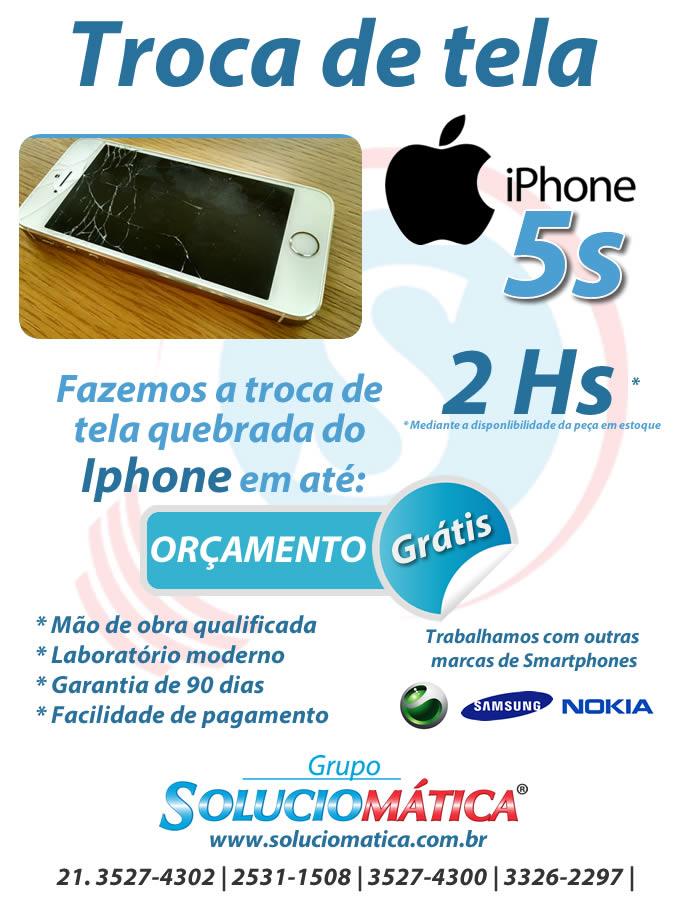 troca tela iphone 5s rio