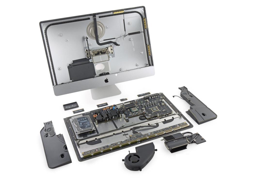 Reparo e manutenção de iMac